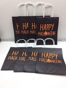 Hallmark Happy Halloween Paper Gift Bag Black Orange 8 Pack