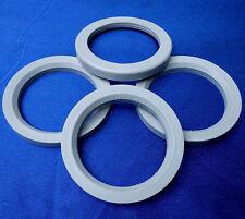 (T02-SR540P) 4x  Zentrierringe 72,2 / 54,0 mm hellgrau für Alufelgen
