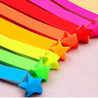 80pcs Origami Lucky Star Paper Strips Folding Paper Ribbons Colors OZ