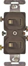 NEW COOPER 271B BROWN DUPLEX GROUNDING TOGGLE LIGHT SWITCH 15A 6137913