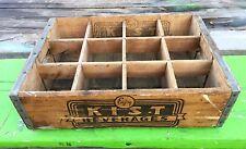 Kist Soda Wooden Box 12 Compartments Binghamton NY Nice!
