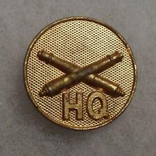 "1930'S Gilt I Em Artillery With ""Hq"" Below Brass Screw Back"