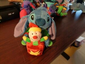 Rare Disney Store Lilo & Stitch Wearing  Pajamas Jack In The Box Toy Plush