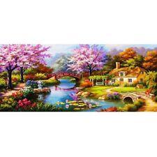 5d DIY Diamond Painting Landscape Embroidery Cross Craft Stitch Home Decor Art Dream Cottage 1 80*38