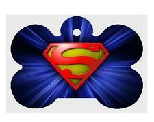 SUPERMAN PET ID TAG Personalized Custom Any Name Dog Tag Printed on 2 Sides