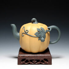 5000friend-Chinese Yixing Old 1st Zisha Factory Unused Pumpkin Teapot,1980'