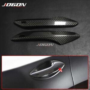 2pcs Carbon Fiber Exterior Door Handle Trim For Lexus RC 200t 300 350 RC F Sport