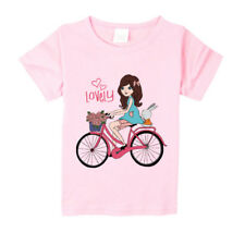 Girls Cute Clothes Summer Christmas Gift Casual Top T Shirts Basic Tee