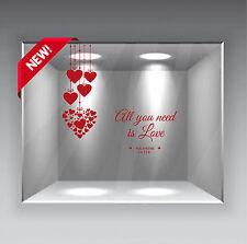 wall stickers adesivo san valentino vetrofania cuore cuori amore love a0102