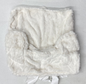 Pottery Barn KIDS My First Anywhere Chair Slipcover~Ivory Faux Fur~NO MONO