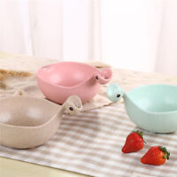 Cute Cup Shape Baby Kids Dish Bowl Wheat Straw Soy Sauce Dish Rice Bowl