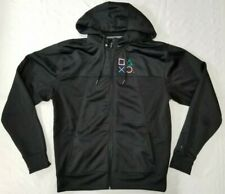 2014 Sony Playstation full-zip hoodie men sz L detachable hood black ITC PS