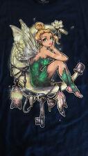 "Teefury ""Dreamcatcher"" Mens T-Shirt Large Tinkerbell Fairy Moon"