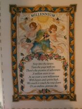 Finished ~ Completed ~ Cross Stitch ~ Collectable Millenium Cherub's Verse ~MINT