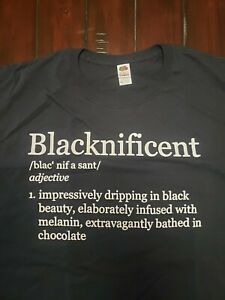 Blacknificent T-shirt - 3XL - new - 100% Cotton - Fruit of the Loom - Black