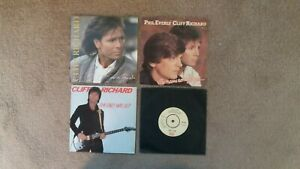 """Cliff Richard - 4 x 7"""" Singles - Some People, She Means Nothing To Me + 2 others"""