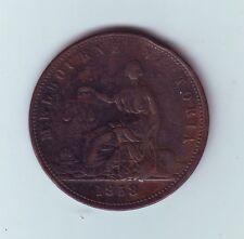 1858 TOKEN Penny MELBOURNE Victoria Peace & Plenty Australia M-985