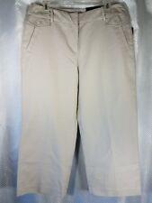 NWT Darjoni Women's Size 10 Signature Fit Khaki Gray Wide Leg Ankle Pants Capris