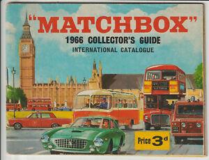 MATCHBOX 1966 COLLECTORS GUIDE- COLOUR SALES CATALOGUE