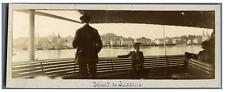 Suisse, Départ de Lucerne  Vintage print.  Tirage citrate  5X16  Circa 190