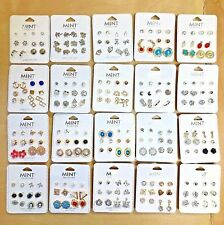 Wholesale Lot 50 or 100 Pairs New Assorted Cute Stud Earrings - FREE SHIPPING