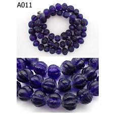 Wonderful Old Indo Pacific Melon Dark Blue Glass Bead Trade Wind Strand #A11