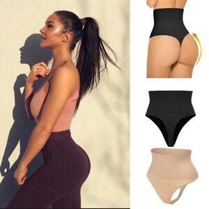 Checkers Undetectable Thong High Waist Tummy Control Shaper Underwear Shapewear