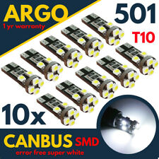 T10 501 W5W LED WHITE CAR SIDE LIGHT 12V BULBS CANBUS ERROR FREE WEDGE XENON HID
