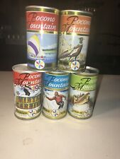 5 Different Vintage Pocono Mountain Beer Cans