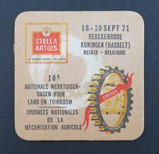 Ancien sous-bock bière STELLA ARTOIS agricole 1971 coaster Bierdeckel 10