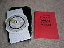 Rechenscheibe  /  Flugrechner POOLEYS - AVIAT Nr. 617 mit Anleitung u. Etui