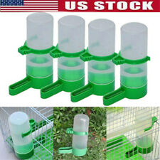 4 Plastic With Feeder Clip For Pet Bird Drinker Green Aviary Water Bottle Budgie