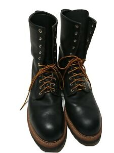 EUC Pre-Owned Vibram Red Wing Logger SZ 12D 12 Boots Steel Toe Black