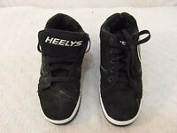 Youth Boy's Heelys 2.0 Black White Lace Up Padded 6 Roller Skating Shoes 34159
