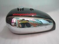 NEW BSA GOLD STAR A7 A10 SUPER ROCKET CHROME AND BLACK PAINTED GAS FUEL TANK