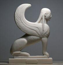 Sphinx griechische mythische Leitete Lion Statue handgefertigte Skulptur Figur