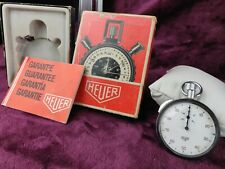 VINTAGE Tag HEUER Stopwatch Caliber 7700 - Original Box & Papers 1974 - Working