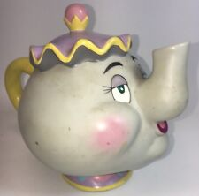 Disney Mrs Potts Teapot Piggy Money Coin Change Saving Bank Beauty Beast Plastic