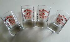 lot 4 verres shooters Jack fire / Jack Daniels