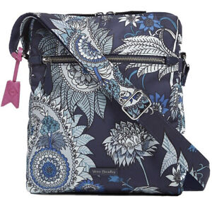 NWT Vera Bradley Cornflower Blossoms Midtown Hipster Crossbody Bag Blues $90.00