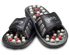Yantra Black Reflexology Slippers - Medium (See description for size guide)