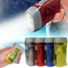 4 Pack Hand Crank Flashlight-Camping-Home-Car-No Battery-LED Bright Light
