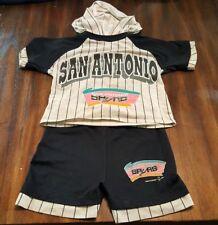 Vintage San Antonio Spurs 1993 Toddler Kids Outfit  Size 7 Pinstripe