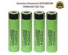4x Genuine Panasonic 18650 3400mAh 3,7v Rechargeable Lion Battery Vape, Flat Top