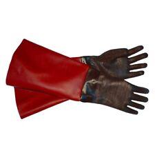 "RED-TUFF-Blast Gloves for Sandblasting Sandblaster Sand Blast Cabinet - 6"" x 24"""