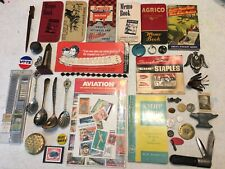 Token Farm Pocketb 00004000 ooks Eagle Pin Stamps Junk Drawer Lot Silver Plate Spoon Knife