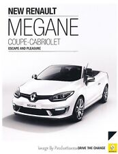 2014 Renault Megane Coupe Cabriolet 12-page UK Original Sales Brochure Catalog