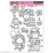 New Penny Black BIG WISH Clear Stamp Set Mimi Girls Birthday Cake Party Presents