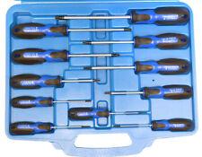 11pc Torx Star Screw Driver Set T6 - T40 Magnetic Cr-v Steel Tips