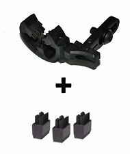 ARCHERY ARROW REST WORKS ON RIGHT OR LEFT HAND BOWS + 3 REPLACEMENT BRUSHES